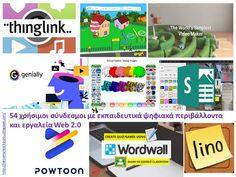 Δραστηριότητες, παιδαγωγικό και εποπτικό υλικό για το Νηπιαγωγείο & το Δημοτικό: Εκπαιδευτικά λογισμικά και εκπαιδευτικά ψηφιακά περιβάλλοντα: 54 χρήσιμες συνδέσεις Web 2, Video Maker, Google Classroom, Games, Gaming, Game