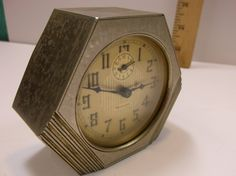 Vintage Art Deco Westclox LaSalle Alarm Clock Model 61-F In Great Working Condition. epsteam by retroricks on Etsy
