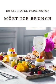 Moët Ice Brunches at The Royal Hotel Paddington, Sydney Food Inspiration, Travel Inspiration, Travel Route, Brunches, Places To Eat, Sydney, Goodies, Ice, Blog