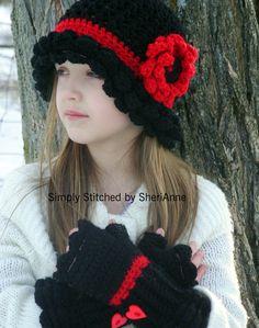 Margarita Hat and Fingerless Gloves.  www.craftsy.com/...