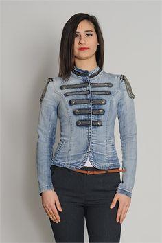 LEFON ZİNCİRLİ KADIN JEAN CEKET 50219 Denim, Jackets, Fashion, Down Jackets, Moda, Fashion Styles, Fashion Illustrations, Jacket, Jeans