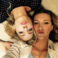 Emily Bett Rickards and Katie Cassidy Selfie