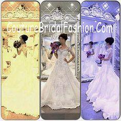 Royal Swarovski train Michael Cinco wedding dress