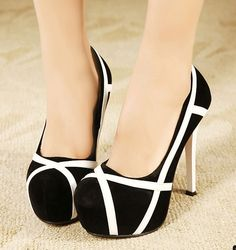 Mixed Colors Stilettos High Heel Shoes