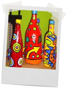 garrafas pintadas belo horizonte - Pesquisa Google