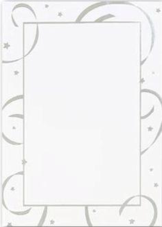 Silver foil streamers invitations - 10 count - $6.95. Includes white envelopes. Large quantity discount. 65lb card stock 5.5 x 7.75 invitations silver foil streamers.