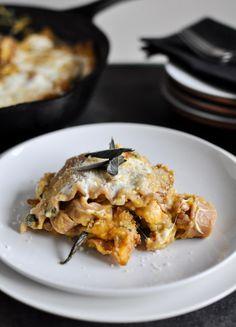 Poêlée de lasagne poulet-butternut-sauge