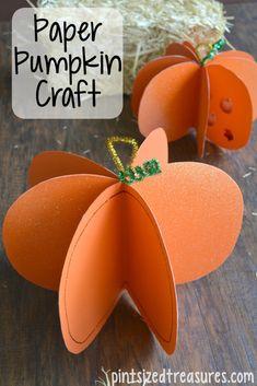 Easy Paper Pumpkin Craft