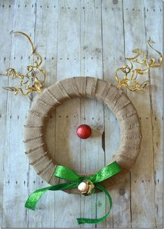 This Reindeer Wreath is one of the cutest things ever!