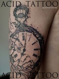75 Stunning Antique Pocket Watch Tattoos For Your Next Ink Pocket Watch Tattoos, Pocket Watch Tattoo Design, Great Tattoos, Beautiful Tattoos, New Tattoos, Tatoos, Beautiful Body, Time Tattoos, Body Art Tattoos