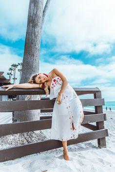 White Poppy Bonfire Dress