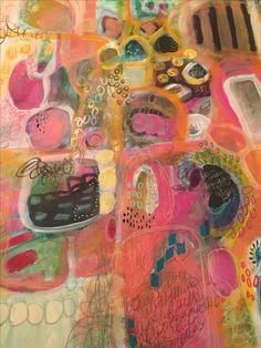 Art by Lisa Baker Watercolours, Watercolor Paintings, Whimsical Art, Heart Art, Medium Art, Kinder Art, Art Techniques, Marker, Kitsch