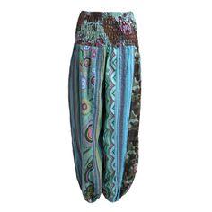 Fair Trade Combat Cargo Trousers Gringo Black Hippy Striped Cotton Hippy XL