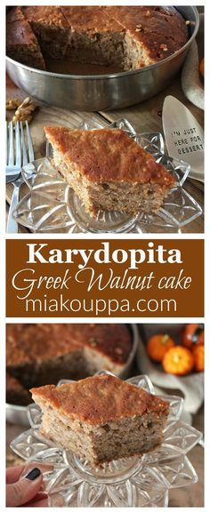 Walnut cake (Karydopita – Καρυδόπιτα) – Taking the guesswork out of Greek cooking…one cup at a time Greek Sweets, Greek Desserts, Greek Recipes, Real Food Recipes, Yummy Food, Greek Cake, Cypriot Food, Greek Cookies, Greek Pastries