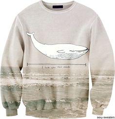 Whale and Water Sweatshirt @Suzie Monk