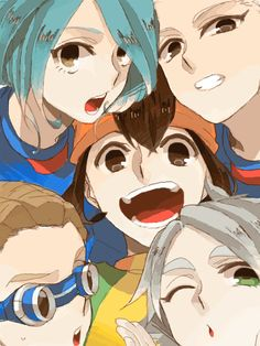 kidou,kazemaru,endou,gouenji and fubuki