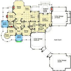 Spectacular Shingle Style House Plan - 23413JD floor plan - Main Level