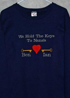 Keys to Nana's Heart by AGiftToTreasure on Etsy, $38.00