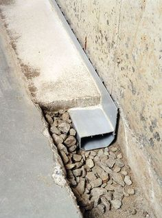 You never know when you'll need this... Perimeter Drainage System