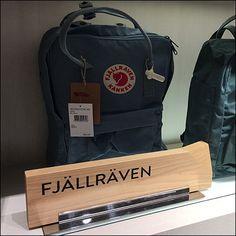 Nordstrom Fjallraven Kanken Wood Brand Marker – Fixtures Close Up Visual Merchandising, Close Up, Markers, Nordstrom, Backpacks, Purses, Wood, Bags, Handbags