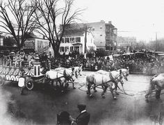 WWI Horse-drawn Float, Park Ave and North Ave, Bridgeport, CT1918