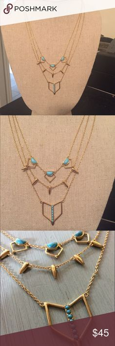 Gorgeous Stella & Dot layering turquoise necklace Gorgeous Stella and Dot layering turquoise necklace. Worn only once and excellent condition. Can be worn multiple ways. Stella & Dot Jewelry Necklaces