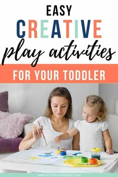Encouraging creative play for your toddler is a wonderful way to help them build imagination, creativity and learning through play. These creative activities for toddlers are perfect for keeping your younger child busy, with fun new play ideas to try at home. Many of these activities require minimal equipment and are sure to keep them occupied as their creativity flows! Creative play ideas and creative learning activities for toddlers. Creative Activities For Toddlers, Rainy Day Activities, Toddler Learning Activities, Sorting Activities, Color Activities, Sensory Activities, Craft Projects For Kids, Craft Ideas, Fairy Tales For Kids