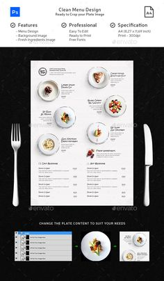 Clean Menu White Wood - #Food #Menus Print Templates