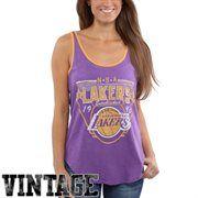aa23f205f3b Junk Food Los Angeles Lakers Ladies Tip-Off Vintage Tank Top - Purple Lakers  T