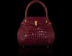 Cognac Red DESIGNER ALLIGATOR Leather Bag TOTE Purse Lautrec #Lautrec #TotesShoppers