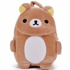2d88680038 Cartoon Children s Backpacks Kids Zoo Animal Rilakkuma Plush Lovely Backpack  Baby Plush Children Bag for Kindergarten3-6Year Old