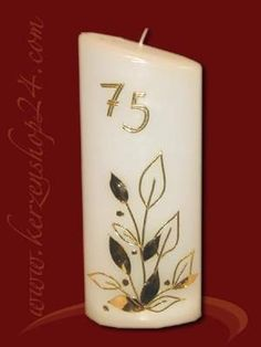 Geburtstagskerze G-1002 Hobbies And Crafts, Pillar Candles, Decorated Candles, Upcycling, Decorating Candles, Candle Art, Hobby Craft, Crafts, Taper Candles