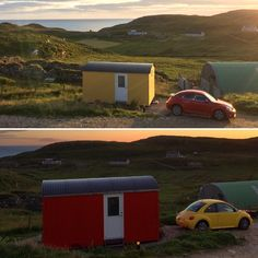 Arriving in fine Glamping style at Mangersta Croft Wigwams on the Isle of Lewis. Glamping Scotland, Camping Pod, Outer Hebrides, Shepherds Hut, Comfy Bed, Stargazing, Favorite Color, Relax, Fire