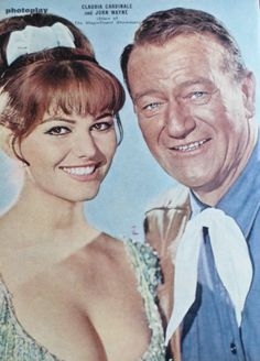 CLAUDIA CARDINALE - JOHN WAYNE - FILM STARS - 1 PAGE PICTURE- CLIPPING/CUTTING