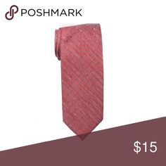 """NWT Red Pin Dot Tie Measures: 2.75"""" (7cm) wide x 58"""" (148cm) long Fabric: 50% Linen, 50% Silk  Color: Red, Gray Salt + Dapper Accessories Ties"""