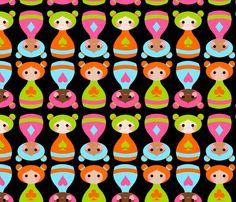 bottle girls fabric by thirdhalfstudios on Spoonflower - custom fabric