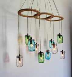 Sea glass mason jar pendant lights set of 2 hanging by bootsngus in 2013 the ball corporation celebrated 100 years of making mason jars aloadofball Image collections