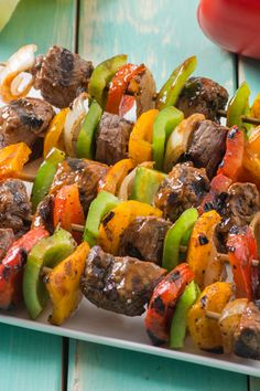 For the grill of it. Try these Florida beef and sweet pepper skewers. They're mouthwatering and mighty tasty. Eat FreshFromFlorida all year.