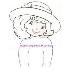 Pano de prato com boneca de croche,boneca com vestidinho de croche