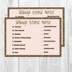 Bridal Shower Game, Instant Upload, Printable, Instant Download, Bachelorette Party Game, Couple Match Game on Etsy, $5.00