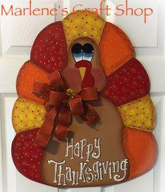 Turkey Door Hanger/ Thanksgiving door Hanger/ Thanksgivng decoration/ storm door Thanksgivng Turkey/ Thanksgiving Door Decoration/ Turkey by MarlenesCraftShop on Etsy