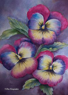 Pansies - Original Watercolor Painting | Flickr - Photo Sharing!