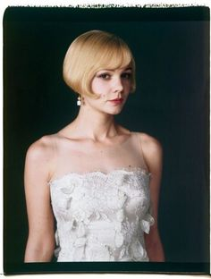 Carey Mulligan, pictured here wearing a dress by Catherine Martin and earrings from the Great Gatsby Collection by Tiffany & Co., stars as Daisy Buchanan in Baz Luhrmann's The Great Gatsby, which opens May The Great Gatsby 2013, Great Gatsby Wedding, Daisy Great Gatsby, Great Gatsby Hairstyles, Hair Inspiration, Wedding Inspiration, Carey Mulligan, Gatsby Style, Scott Fitzgerald