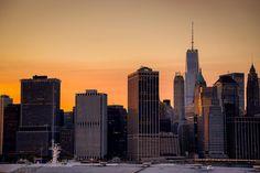 2014-06 Manhattan skyline at sunset New York. #toptravelspot #usa #newyork #brooklyn #manhattan #sunsetphotography #skyline #downtown #instapassport #instantraveling #instadaily #cityscape #travelphotography #travelgram