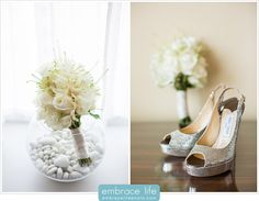 Beverly Wilshire Hotel Wedding Shoes and Bouquet