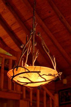 Pine Iron Globe Chandelier by Stone County Ironworks