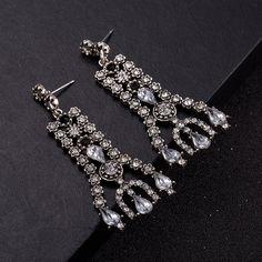 Bridal Drop Earrings Fashion Jewelry Luxury Dangle Crystal Earrings for Women FSE020