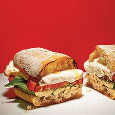 Grilled Zucchini Caprese Sandwiches   CookingLight.com