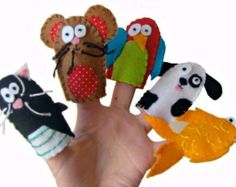 Pet Animals Finger Puppets / Children's / Babies Toys / Felt Finger puppets - 5