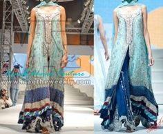Light and Dark Blue Bridal Dress on Discount